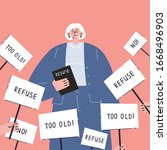 age discrimination.senior job... | Shutterstock .eps vector #1668496903