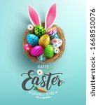 easter poster and banner... | Shutterstock .eps vector #1668510076