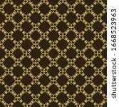 Wallpaper With A Geometric Gold ...