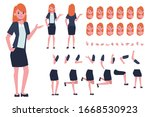 business woman or secretary... | Shutterstock .eps vector #1668530923