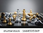 Chess Figure King Surrounded By ...