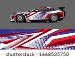 full car wrap design. abstract ...   Shutterstock .eps vector #1668535750