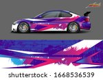 car wrap design. with abstract  ...   Shutterstock .eps vector #1668536539