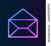 opened envelope nolan icon....