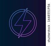 lightning nolan icon. simple...