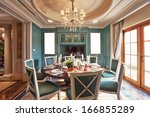 luxurious dining room | Shutterstock . vector #166855289