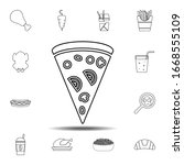 slice of pizza icon. simple...