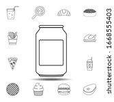 aluminum soda bank icon. simple ...