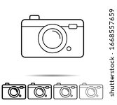 camera icon in different shapes....