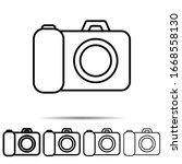 photo camera icon in different...