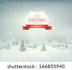 holiday christmas background... | Shutterstock .eps vector #166855940