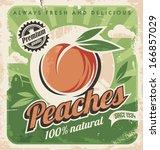 peaches  vintage poster... | Shutterstock .eps vector #166857029