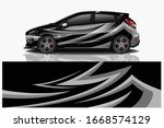 city car wrapping decal design | Shutterstock .eps vector #1668574129