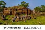 Stump Of Main Stupa And Smalle...