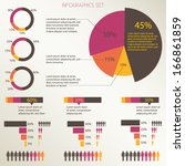 infographics set  pie chart...   Shutterstock .eps vector #166861859