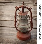 vintage kerosene  lamp on a... | Shutterstock . vector #166863356