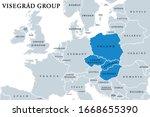 visegr d group member states... | Shutterstock .eps vector #1668655390