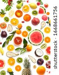 collage of various fresh fruits ...   Shutterstock . vector #1668661756