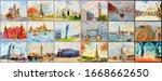 world architectural set of...   Shutterstock . vector #1668662650