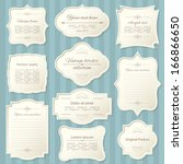 vintage frame set. calligraphic ... | Shutterstock .eps vector #166866650