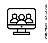 customer vector thin line icon  | Shutterstock .eps vector #1668667003