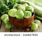 fresh raw organic green... | Shutterstock . vector #166867856