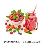 Berry Smoothie In Glass Jar ...