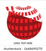 vector 3d business logo concept | Shutterstock .eps vector #1668690370