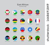 east african countries flag...   Shutterstock .eps vector #1668691849