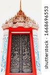 Carved Wooden Doors In Thai...