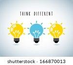 bulbs design over gray... | Shutterstock .eps vector #166870013