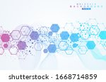 structure molecule and...   Shutterstock .eps vector #1668714859