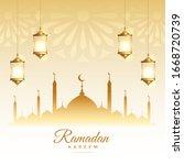 islamic ramadan kareem season... | Shutterstock .eps vector #1668720739