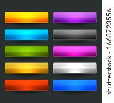ten glossy shiny wide empty... | Shutterstock .eps vector #1668723556