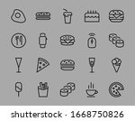 a simple set of fast food... | Shutterstock .eps vector #1668750826