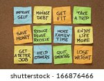 popular new year resolutions  ... | Shutterstock . vector #166876466