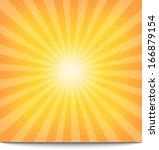 sun sunburst pattern. vector... | Shutterstock .eps vector #166879154