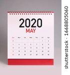 Simple Desk Calendar For May...