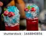 colorful cocktail in glass with ... | Shutterstock . vector #1668840856