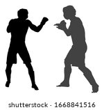 two mma fighters vector...   Shutterstock .eps vector #1668841516