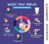 corona virus prevention... | Shutterstock .eps vector #1668844276
