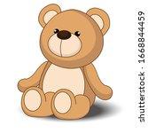teddy bear a vector... | Shutterstock .eps vector #1668844459
