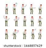 businessman in white shirt and... | Shutterstock .eps vector #1668857629