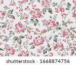 vintage style floral seamless...   Shutterstock .eps vector #1668874756