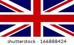 Flag of the United Kingdom. Vector. Accurate dimensions, element proportions and colors.