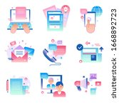 media content concept icons ... | Shutterstock .eps vector #1668892723