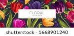 spring floral vector background ...   Shutterstock .eps vector #1668901240