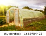 Big Greenhouse In The Garden...