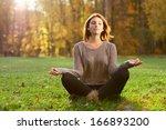 Beautiful Young Girl Meditatin...