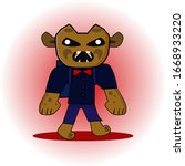 mascot monsters funny and... | Shutterstock .eps vector #1668933220